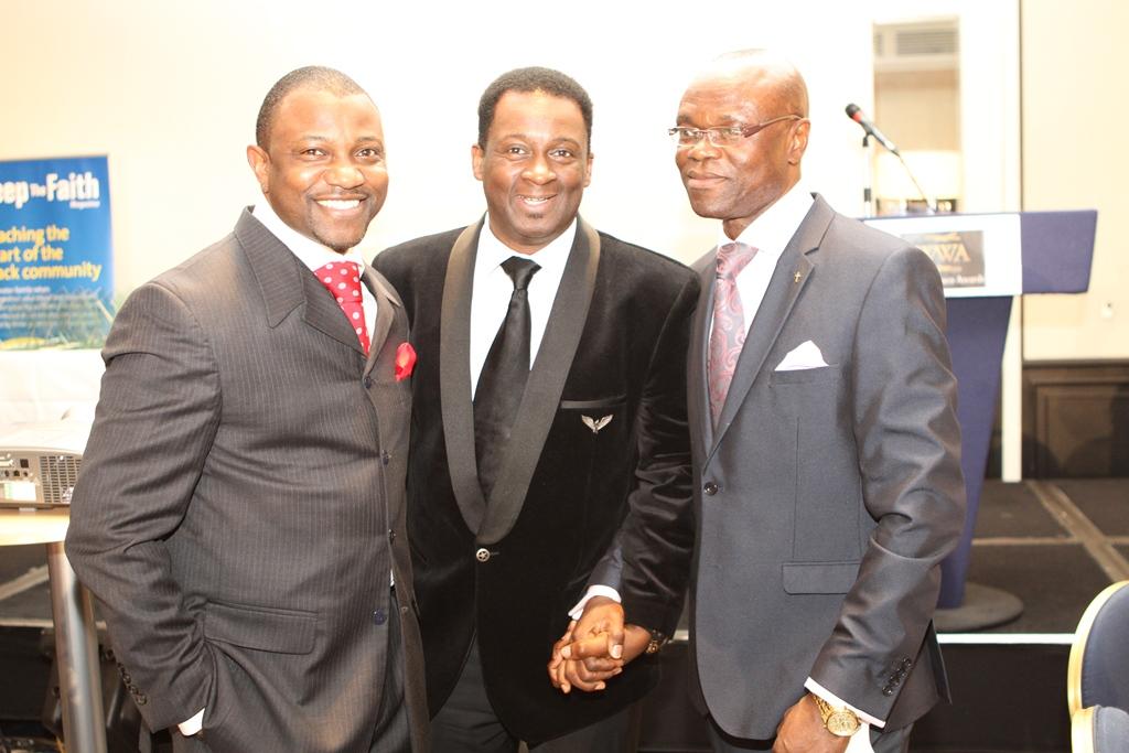 Dr Oloyode, Noel Robinson, Pastor Clem Esomowei