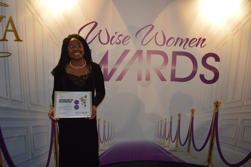 Linda Nnene Certificate of Recognition Recipient