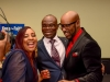 Lurine Cato, Raymond Dyer and Pastor Clem