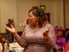 Pastor Marjorie celebrating award winners