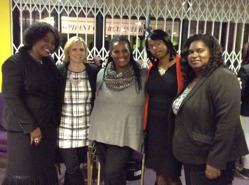 Pst Marjorie Esomowei, founder of WISE WOMEN AWARDS, Helen Paul UGN RADIO, Marlene Cato Chief Executive FRESH MANNA, Marcia Dixon Editor KEEP THE FAITH magazine, Sanchia Alasia CLLR DAGENHAM and BARKING.