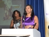 Alison Johnson collects her Woman in Ministry award