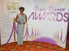 Audrey James with the Woman in Business Awardm sponsored by Dial A Carer